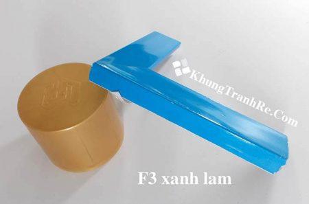 phào khung tranh F3 xanh lam nghiêng