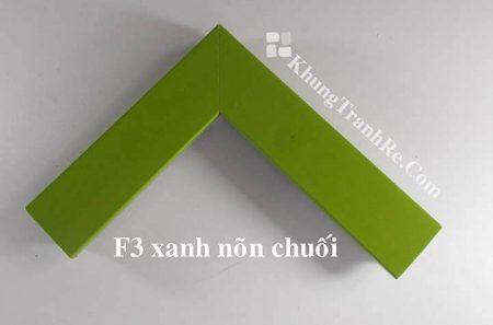 phào khung tranh F3 xanh nõn chuối