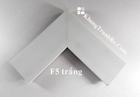 phào khung tranh F5 trắng