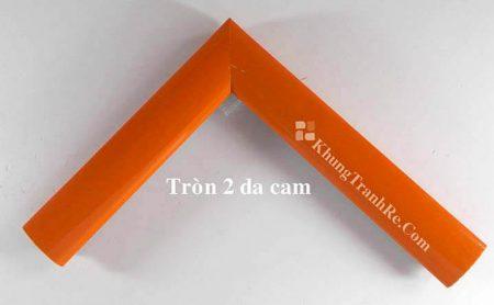 phào khung tranh tròn 2 da cam