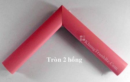 phào khung tranh tròn 2 hồng