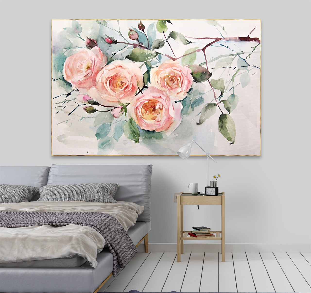 01 thiên nhiên hoa hồng lá xanh 2