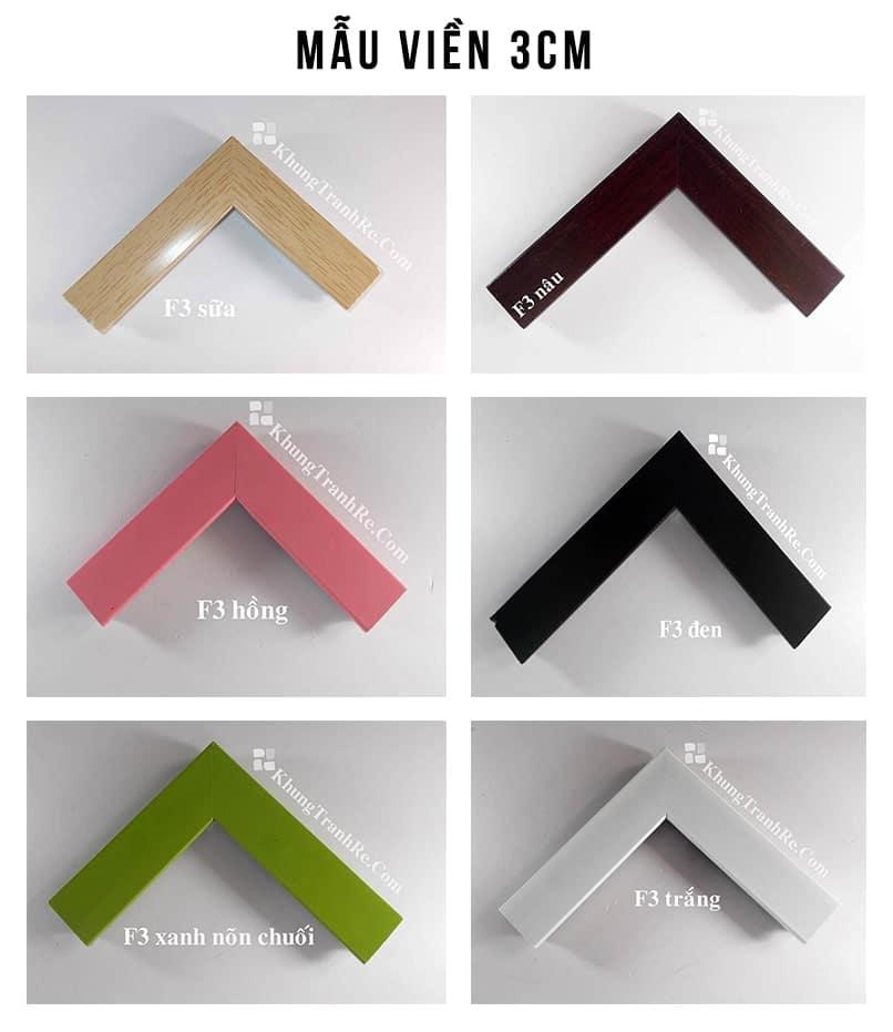 Viền khung tranh 3cm các màu