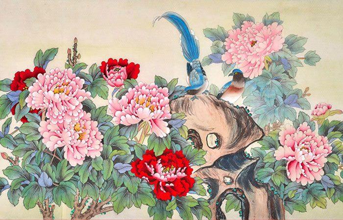 tranh hoa mau don hop tuoi nao 17