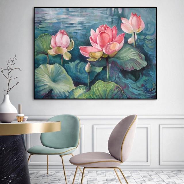 Tranh hoa sen phong thủy