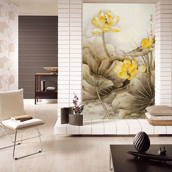tranh hoa sen phong khach 14