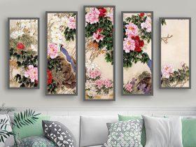 tranh son dau hoa mau don 125 1