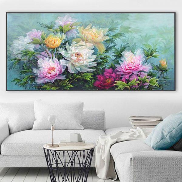 tranh son dau hoa mau don 129