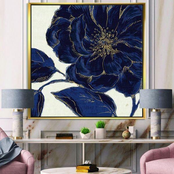 tranh son dau hoa mau don 134