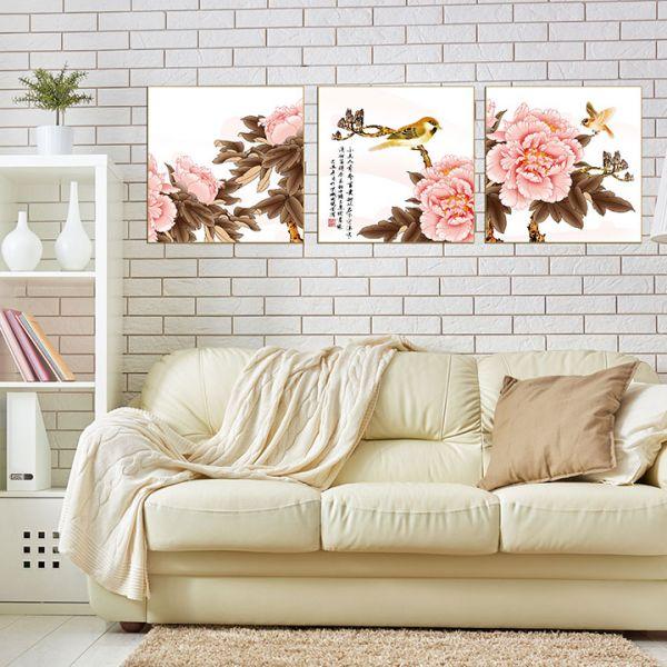 tranh son dau hoa mau don 138