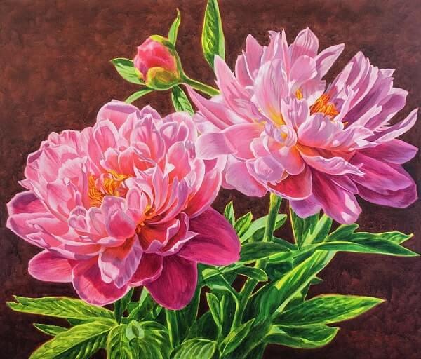 tranh son dau hoa mau don 141 1