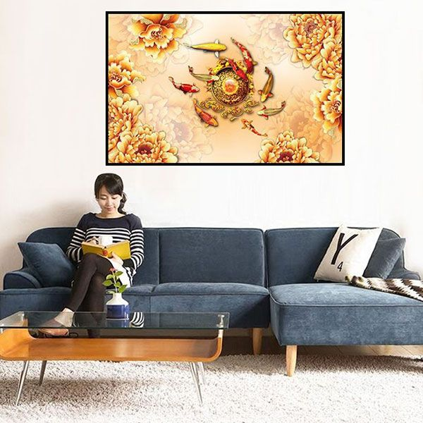 tranh son dau hoa mau don 1450