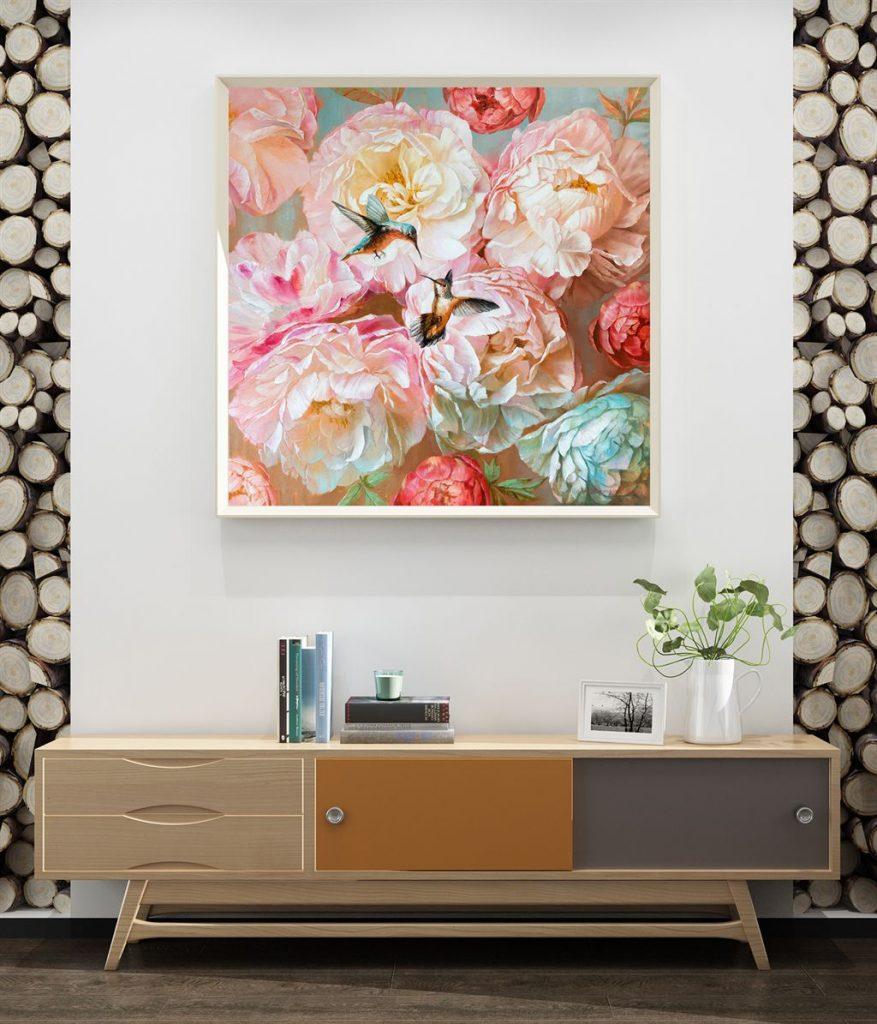 tranh son dau hoa mau don 148