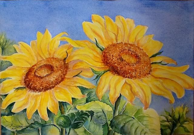 Cách vẽ tranh hoa hướng dương đẹp
