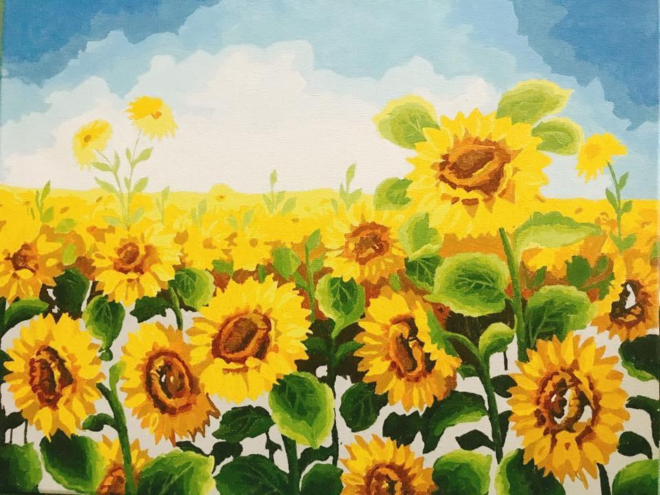 vẽ tranh hoa huong duong 132