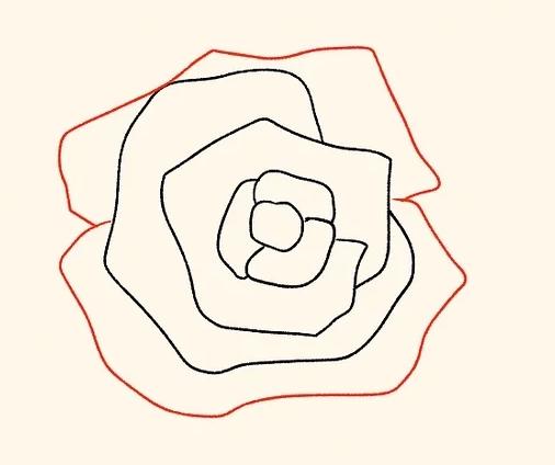 ve tranh hoa hong 126