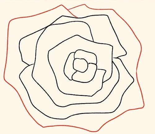 ve tranh hoa hong 127