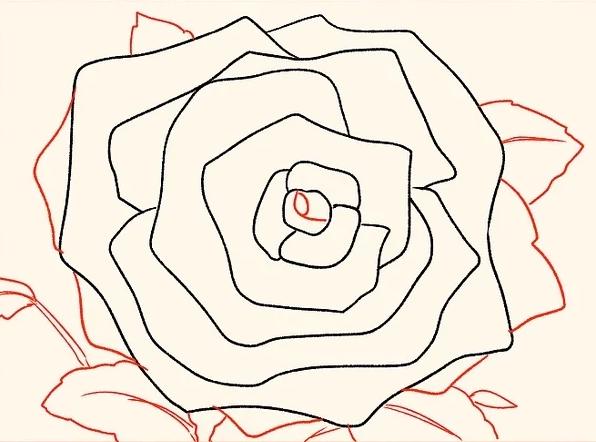ve tranh hoa hong 128