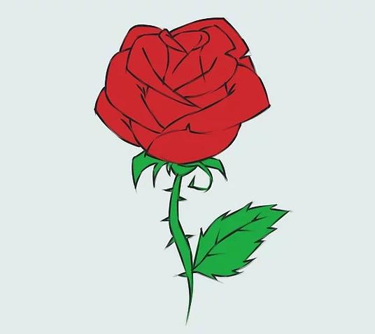 ve tranh hoa hong 19
