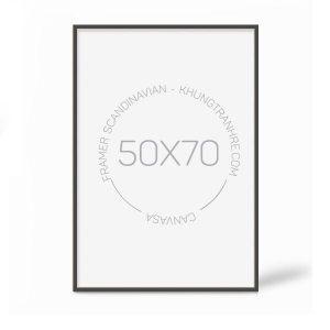 khung tranh 50x70cm mặt kính
