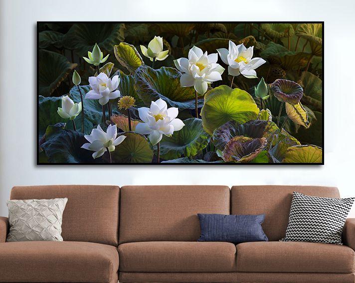 tranh hoa sen phong khach 124 2