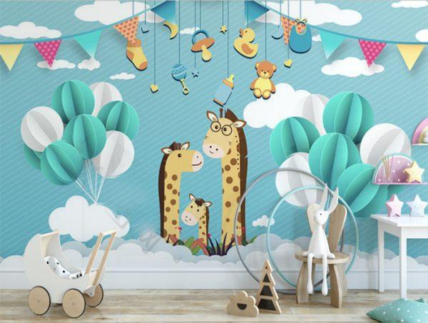 Vẽ tranh phòng ngủ cho bé cực đẹp