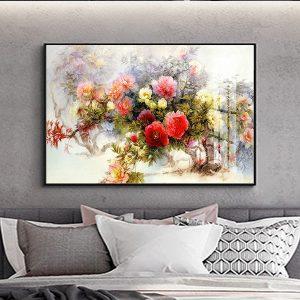 tranh son dau hoa mau don 1 1