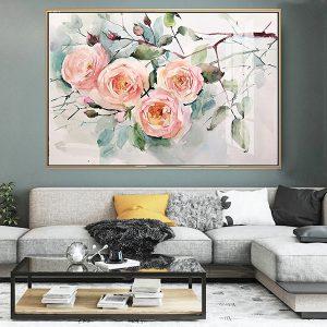 tranh ve hoa hong leo 1 1
